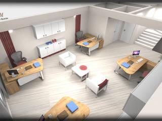 özlem tokerim iç mimarlık ve tasarım – ofis tasarımı...: modern tarz , Modern