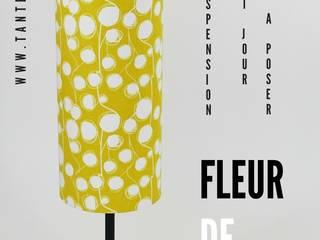 """Lampe d'ambiance """"Fleur de coton"""" (jaune) Tante Ines MaisonAccessoires & décoration"""
