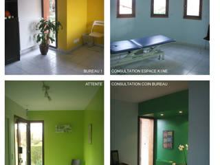 OSSATURE BOIS - Extension d'une maison à MARSAT -63200 Espaces de bureaux modernes par AGENCE D'ARCHI. PASCALINE JUSTE Moderne