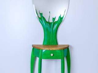 """Console """"Spider"""", Mirror """"Tree"""" par Meble Autorskie Jurkowski Moderne"""