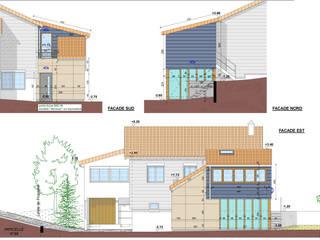 Extension d'une maison à Clermont-Ferrand - Ossature bois par AGENCE D'ARCHI. PASCALINE JUSTE