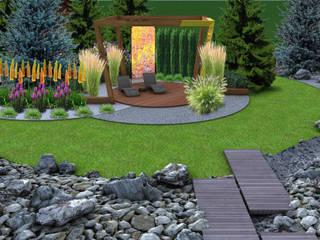 PROJEKT MIEJSCA WYPOCZYNKOWEGO: styl , w kategorii Ogród zaprojektowany przez UNICAT GARDEN