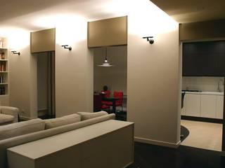 Appartamento_RM: Soggiorno in stile in stile Moderno di Studio di Architettura Matteo Faroldi
