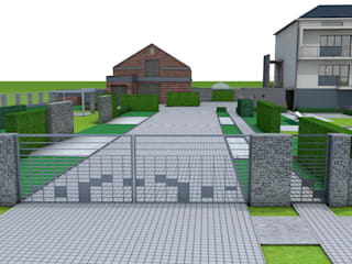 Projekt płotu - ujęcie 2: styl , w kategorii Ogród zaprojektowany przez UNICAT GARDEN