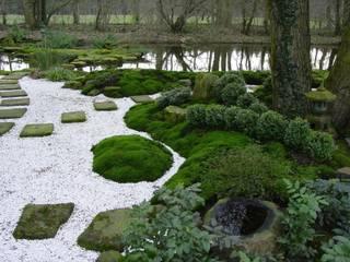 Wasser im Garten, Tsukubai im Moosgarten von Zenkloster Liebernau: asiatischer Garten von japan-garten-kultur