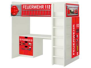 Feuerwehr Möbelfolie für die Hochbett Kombination IKEA STUVA:   von STIKKIPIX