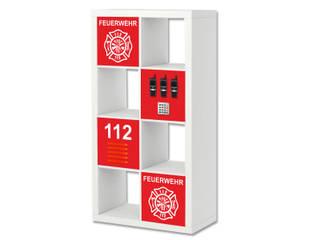 Feuerwehr Möbelfolie für das Regal IKEA EXPEDIT / KALLAX:   von STIKKIPIX