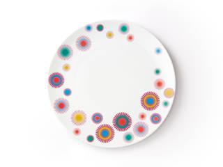 Duży porcelanowy talerz (śr. 28 cm) Dmuchawce marki Zulana : styl , w kategorii  zaprojektowany przez Zulana