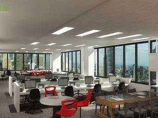 commercial 3d interior cgi office:  Geschäftsräume & Stores von yantramstudio