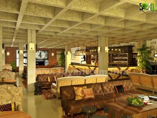 kommerziellen 3D Interior Design klassisches Restaurant:  Geschäftsräume & Stores von yantramstudio