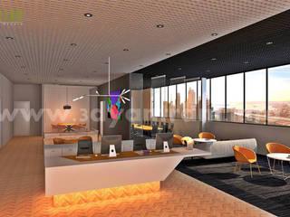 kommerziellen 3D Interior Design Büro launge:  Geschäftsräume & Stores von yantramstudio
