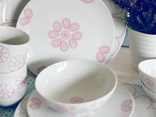 Porcelanowy zestaw Makatka Róż marki Zulana: styl , w kategorii  zaprojektowany przez Zulana