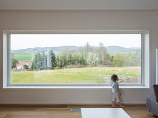 Haus E Moderne Wohnzimmer von Bau Eins Architekten BDA Modern