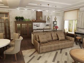 Кухня-гостинная в неоклассическом стиле Кухня в классическом стиле от Efimova Ekaterina Классический