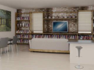 Salones de estilo moderno de Laura Mattiuzzo Architetto Moderno