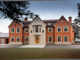 Traditional Design Newbuild Project With A Modern Twist Marvin Windows and Doors UK Pintu & Jendela Gaya Klasik