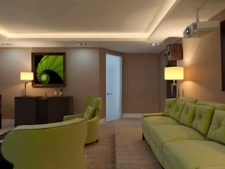 Elena Arsentyeva Modern style media rooms
