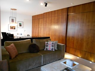 Apto Morumbi Salas de estar modernas por Compondo Arquitetura Moderno