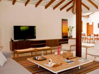 Salas / recibidores de estilo moderno por Renata Romeiro Interiores