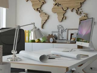 Restyling studio di architettura – Messina : Studio in stile  di Santoro Design Render