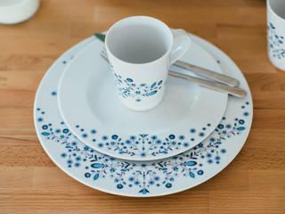 Porcelanowy zestaw z kolekcji Folk marki Zulana: styl , w kategorii  zaprojektowany przez Zulana