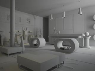 Design & Render negozio abbigliamento Roma – Paris :  in stile  di Santoro Design Render