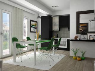Design & Render livingroom – arredamento S.Agata Militello (ME) : Cucina in stile  di Santoro Design Render