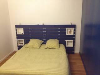 tete de lit bois palette:  de style  par Esprit loft recup