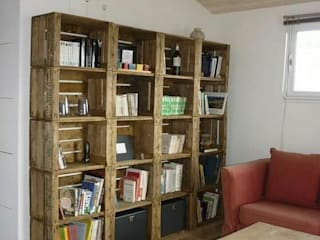 bibliotheque sur mesure: Bureau de style  par Esprit loft recup
