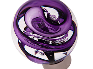 Bouton de porte Collection Tubes de bulles sphérique par Les Verreries de Bréhat Moderne