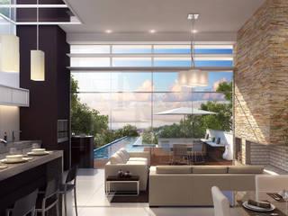 Residência Gomes Carvalho Salas de estar modernas por Biehl Arquitetura Moderno