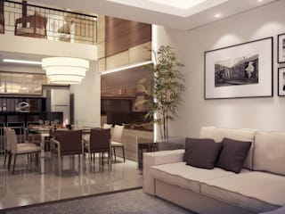 Residência DC Salas de jantar modernas por Biehl Arquitetura Moderno