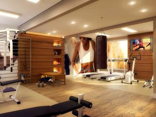 Academia Condomínio VM Fitness moderno por Biehl Arquitetura Moderno