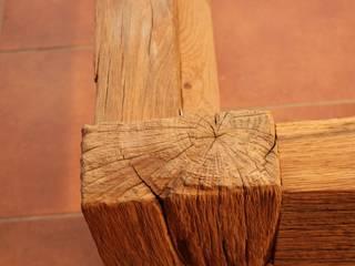 Urige, rustikale Betten aus altem Eichenholz von Bootssteg Möbel Rustikal