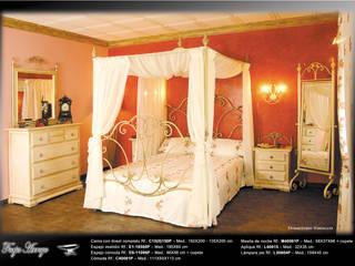 Dormitorio Versalles:  de estilo  de Forja Arroyo