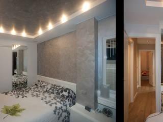 Vaciados en techos, toque de elegancia en un dormitorio: Dormitorios de estilo  de Artebasik Reformas