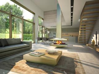 Donau 14:  Wohnzimmer von Andreas Beier Architektenteam