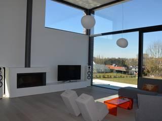 Salon moderne par hasa architecten bvba Moderne