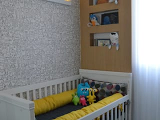 Quarto bebê: Quartos  por Compondo Arquitetura,Moderno