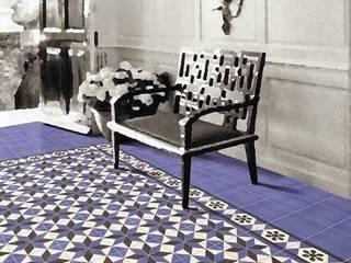 Rustic style corridor, hallway & stairs by INTERAZULEJO Rustic