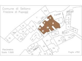 Planimetria Catastale:  in stile  di Studio Architettura Vitale