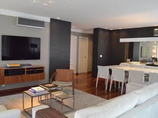 Apto Paraíso: Salas de estar  por Compondo Arquitetura,Moderno