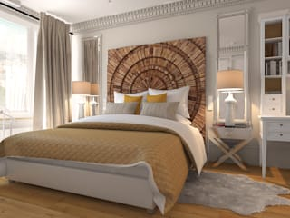 Студия Антона Базалийского Industrial style bedroom