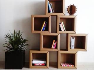 Cubo estante de cartón:  de estilo  por Modulec
