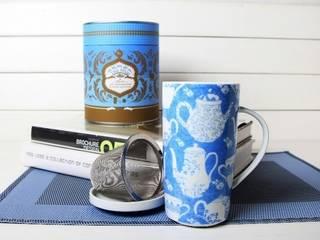 Kubki  i czajniczki z porcelany: styl , w kategorii  zaprojektowany przez Silly Design - prezentowa porcelana
