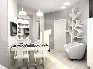 """Квартира """"TOTAL WHITE"""": Гостиная в . Автор – ЙОХ architects"""