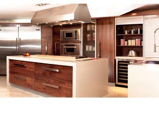 COCINAS EN NOGAL Cocinas modernas de Kuche Haus Moderno