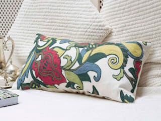 Handcrafted Decorative Pillow: asian  by DesignRaaga, Asian