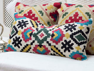 Handcrafted Decorative Pillow: eclectic  by DesignRaaga, Eclectic