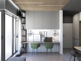 54 m2: styl , w kategorii Domowe biuro i gabinet zaprojektowany przez ADV Design